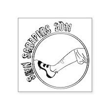 "Shinscrapers Logo Large Square Sticker 3"" x 3"""