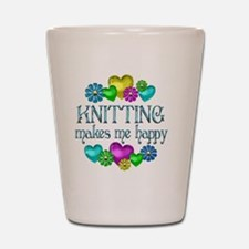 KNITTING Shot Glass
