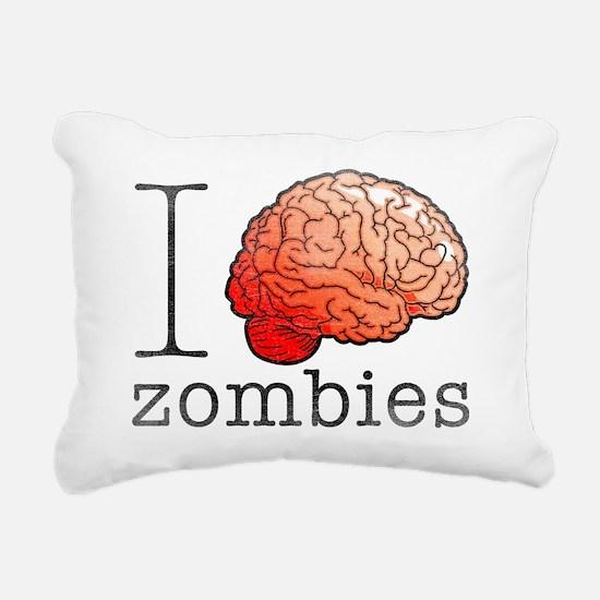 iBRAINzombies Rectangular Canvas Pillow