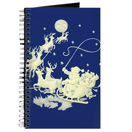 Christmas Santa Claus Night Sky Journal