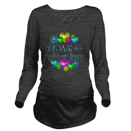 SEWING Long Sleeve Maternity T-Shirt