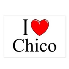 """""""I Love Chico"""" Postcards (Package of 8)"""