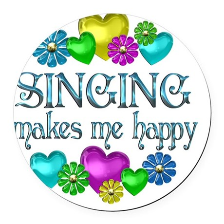 SING Round Car Magnet