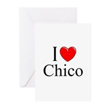 """""""I Love Chico"""" Greeting Cards (Pk of 10)"""