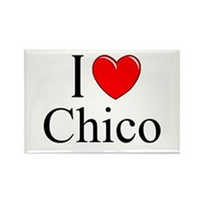 """I Love Chico"" Rectangle Magnet"