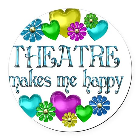 THEATRE Round Car Magnet