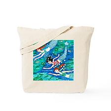 mermaid race Tote Bag