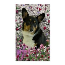 Sebastian Welsh Corgi Flowers 3'x5' Area Rug