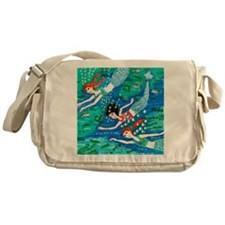 mermaid race Messenger Bag
