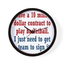 basketball-contract1 Wall Clock