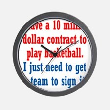 basketball-contract1 Wall Clock