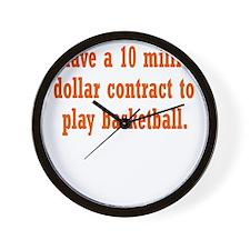 basketball-contract3 Wall Clock