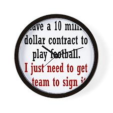 football-contract2 Wall Clock