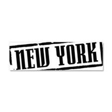 New York Title W Car Magnet 10 x 3