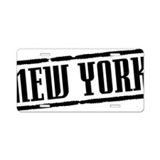 New York Title W Aluminum License Plate