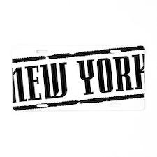 New York Title W Aluminum License Plate