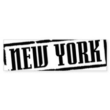 New York Title W Bumper Sticker
