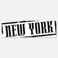 New York Title W Car Car Sticker