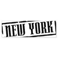 New York Title W Car Sticker