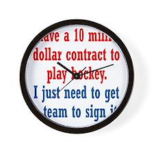 hockey-contract1 Wall Clock