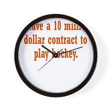 hockey-contract3 Wall Clock