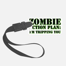 zombie action plan.eps Luggage Tag