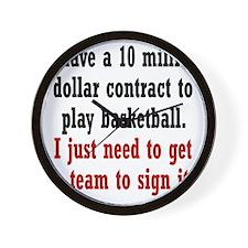 basketball-contract2 Wall Clock