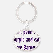 barney2 Oval Keychain