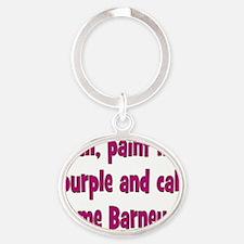barney1 Oval Keychain