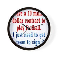 football-contract1 Wall Clock