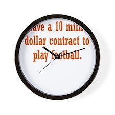 football-contract3 Wall Clock