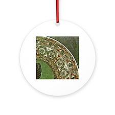 am_emerald8tile2 Round Ornament