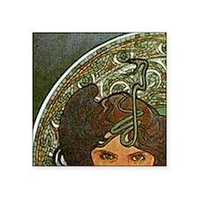 """am_emerald8tile1 Square Sticker 3"""" x 3"""""""