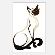 Sitting Siamese Kitty  wo Postcards (Package of 8)
