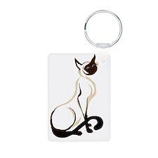 Sitting Siamese Kitty  wor Keychains