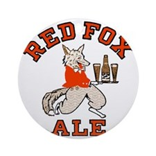 redfoxalewh Round Ornament