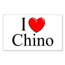 """""""I Love Chino"""" Rectangle Decal"""