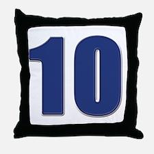 10-blue Throw Pillow