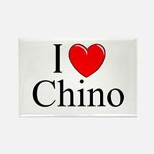 """""""I Love Chino"""" Rectangle Magnet"""
