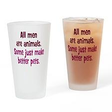 men-animals_rnd1 Drinking Glass