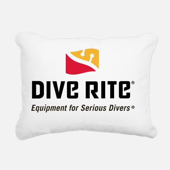 DiveRite_for_CP_light_te Rectangular Canvas Pillow