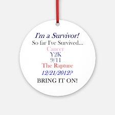 survivorcancer Round Ornament