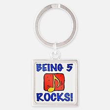 Rocks5 Square Keychain