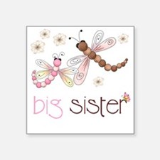 """big sister drgonfly 2 Square Sticker 3"""" x 3"""""""