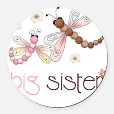 big sister drgonfly 2 Round Car Magnet
