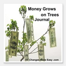 """money grows on trees jou Square Car Magnet 3"""" x 3"""""""