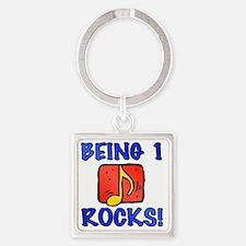 Rocks1 Square Keychain