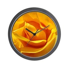A Rose Orange Yellow 1M Roses Rose Gard Wall Clock