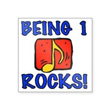 "Rocks1 Square Sticker 3"" x 3"""