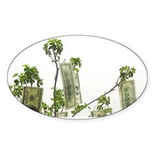 money grows on trees inside card Decal
